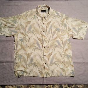 Ocean Pacific 100% silk XL Hawaiian camp shirt.